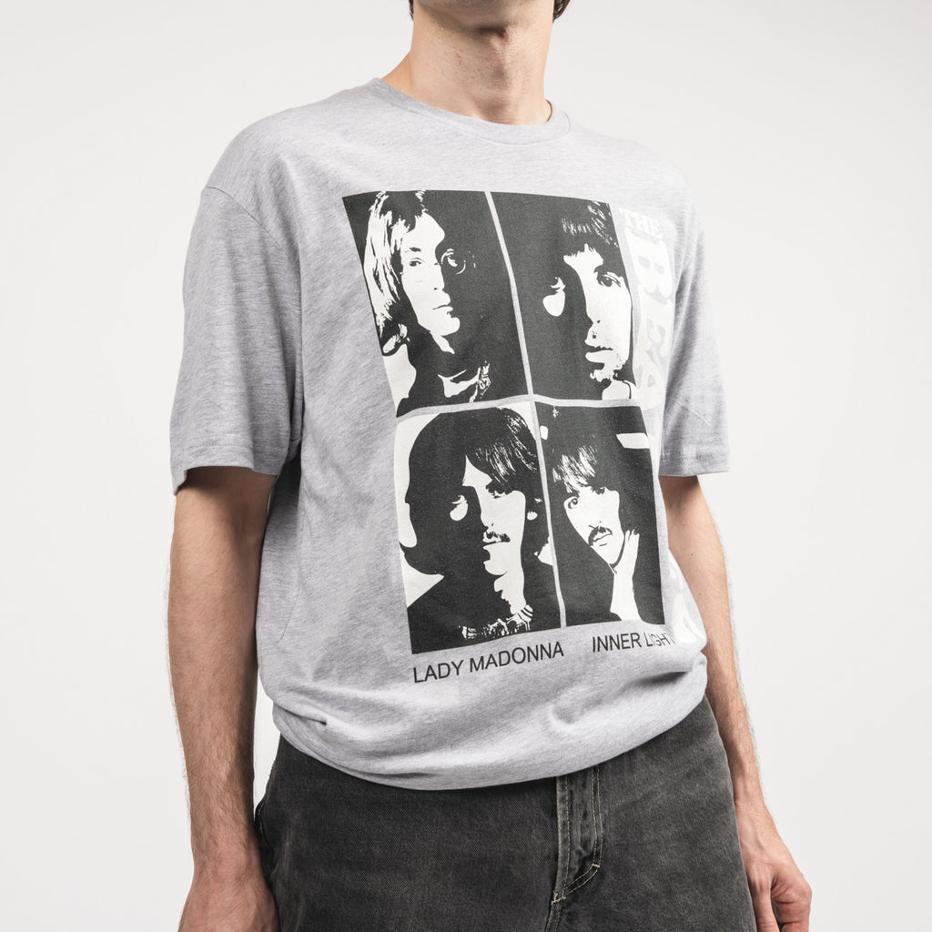 The Beatles White Album Singles Grey T Shirt