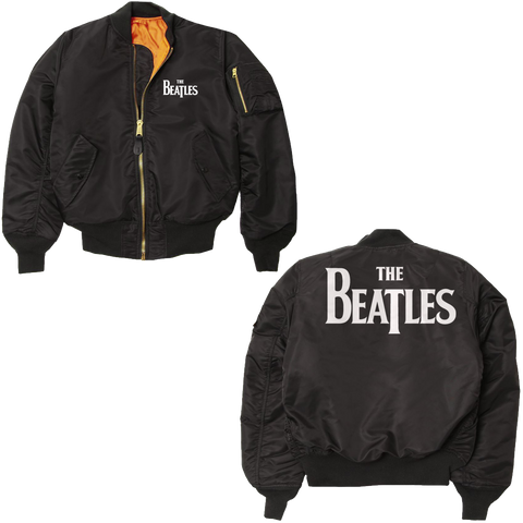 The Beatles Logo Varsity Bomber Jacket