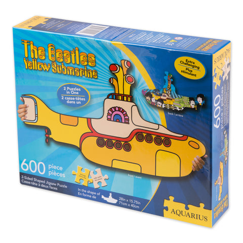 Yellow Submarine Die Cut Shaped 600 pc Puzzle
