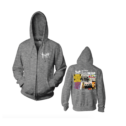 Christmas Records Grey Zip Hoodie