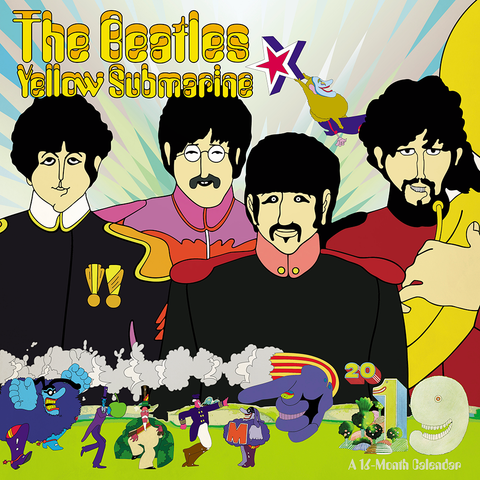 The Beatles Yellow Submarine 2019 Day Dream Wall Calendar
