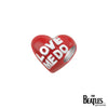 925 Sterling Silver Love Me Do Red Heart Bead