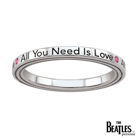 925 Sterling Silver All You Need Is Love Ring