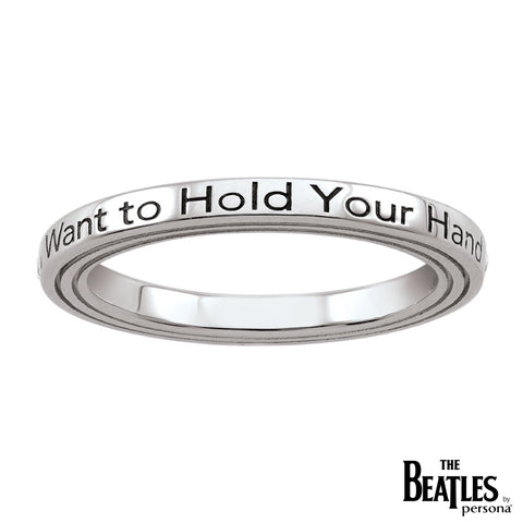 925 Sterling Silver I Want To Hold Your Hand Ring