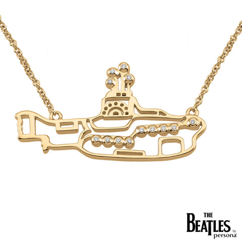 925 Sterling Silver and 18k Gold Overlay Yellow Submarine Necklace