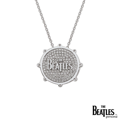 925 Sterling Silver Beatles Drum Necklace