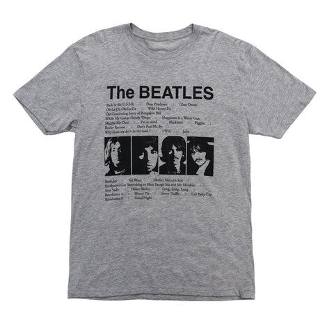 The Beatles (White Album) Song List T-Shirt