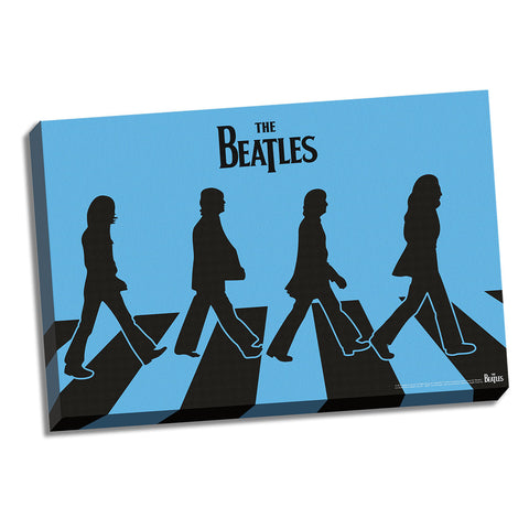 Blue Silhouette Abbey Road Canvas