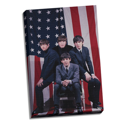 US Flag Beatles Canvas