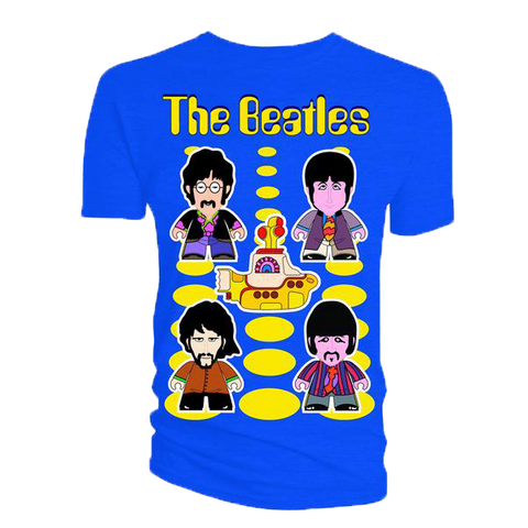 The Beatles: T-Shirt: Yellow Submarine TITANS (Royal Blue)