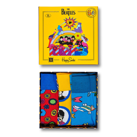 Yellow Submarine Adult 3 Pack Sock Set