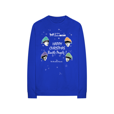 Happy Christmas Beatle People Blue Longsleeve