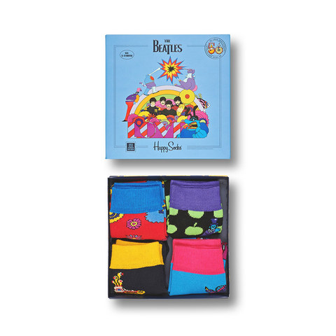 Yellow Submarine Kid's 4 Pack Sock Set