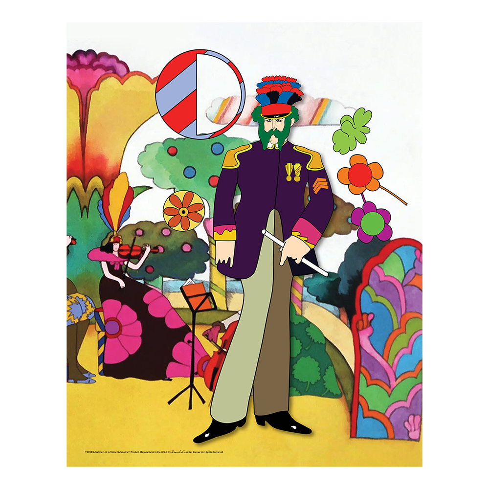 Yellow Submarine Love Flowers 19 X 30 Canvas Set Of 4 The Beatles