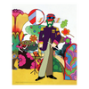 "Yellow Submarine Love Flowers 19"" x 30"" Canvas (Set of 4)"