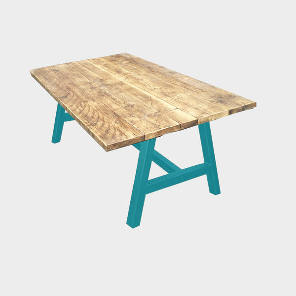 Splash A-Frame Rustic Reclaimed Dining Table