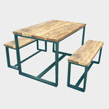 Splash Brace Rustic Reclaimed Dining Table