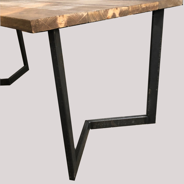 Industrial Style Chevron Dining Table