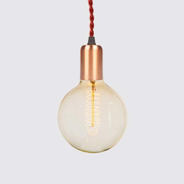 Brushed Copper Single Pendant - Industrial Reclaimed Style Furniture
