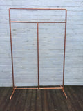 Copper Clothes Rail - Industrial Reclaimed Style Furniture