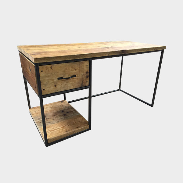 Desk with Single Drawer and shelf Storage