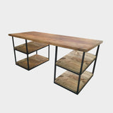 Desk with Double Shelf Storage