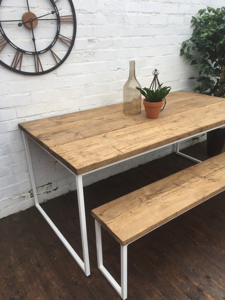 industrial style outdoor furniture. Industrial Style Ultra Slim U-Bar Dining Table Outdoor Furniture S