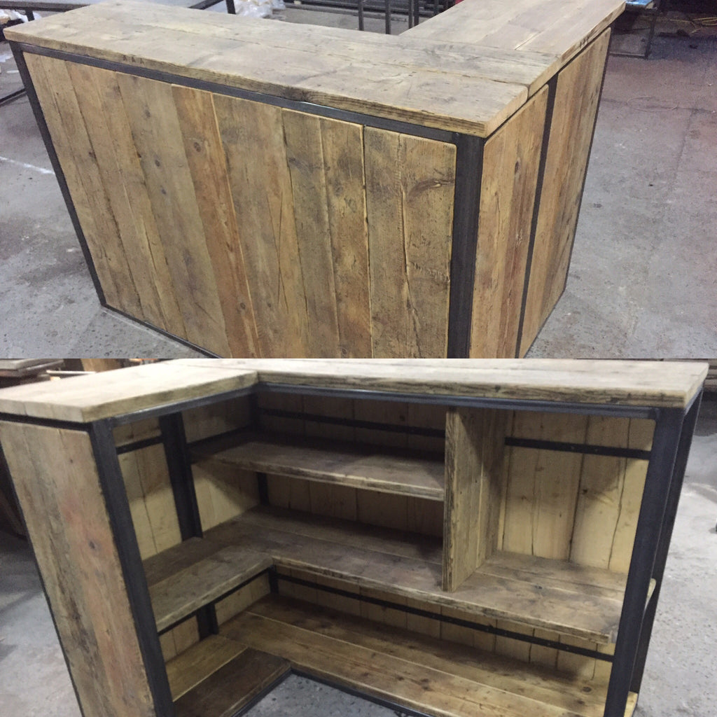 Drinks Mini Bar   Garden/ Shed/ Outdoor   Industrial Style Reclaimed  Furniture