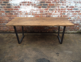 Tapered Dining table - Industrial - Reclaimed - Wood - Steel