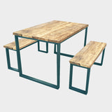 Splash U-Bar Rustic Reclaimed Dining Table