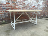Industrial Style Trestle Frame Table