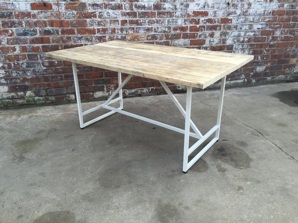 industrial style outdoor furniture. Industrial Style Trestle Frame Table Outdoor Furniture F