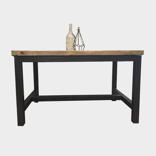 Chunky H-Frame Dining Table - Industrial Reclaimed Style Furniture