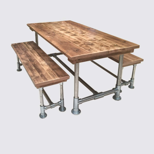 Scaffold Table & Bench Set - Industrial Reclaimed