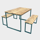 Splash Slim U-Bar Rustic Reclaimed Dining Table