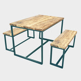 Splash Slim Brace Rustic Reclaimed Dining Table
