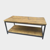 Coffee Table With Shelf - Industrial Reclaimed Style Furniture