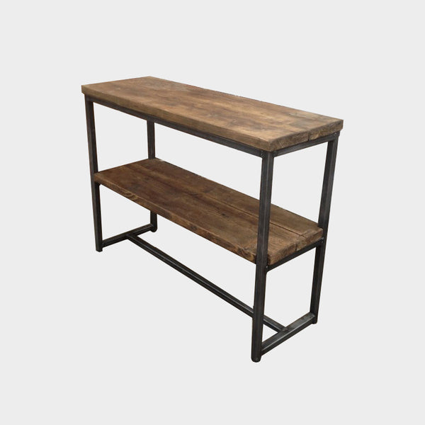 Console Table with Shelf - Industrial Reclaimed Style Furniture