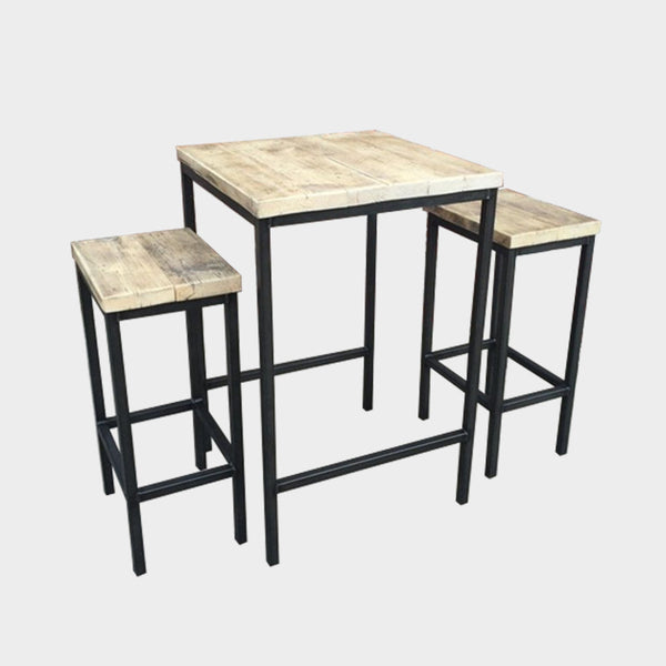 Table and Stools Set - HOME / BAR / CAFE - Any Colour - Industrial Steel