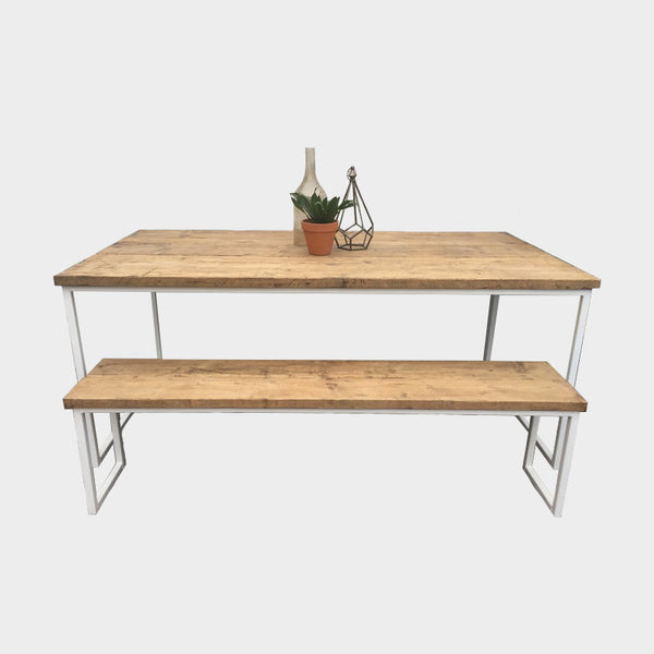 Industrial Style Ultra Slim U-Bar Dining Table