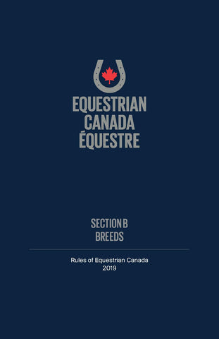 2019 EC Rule Book - Section B - Breeds