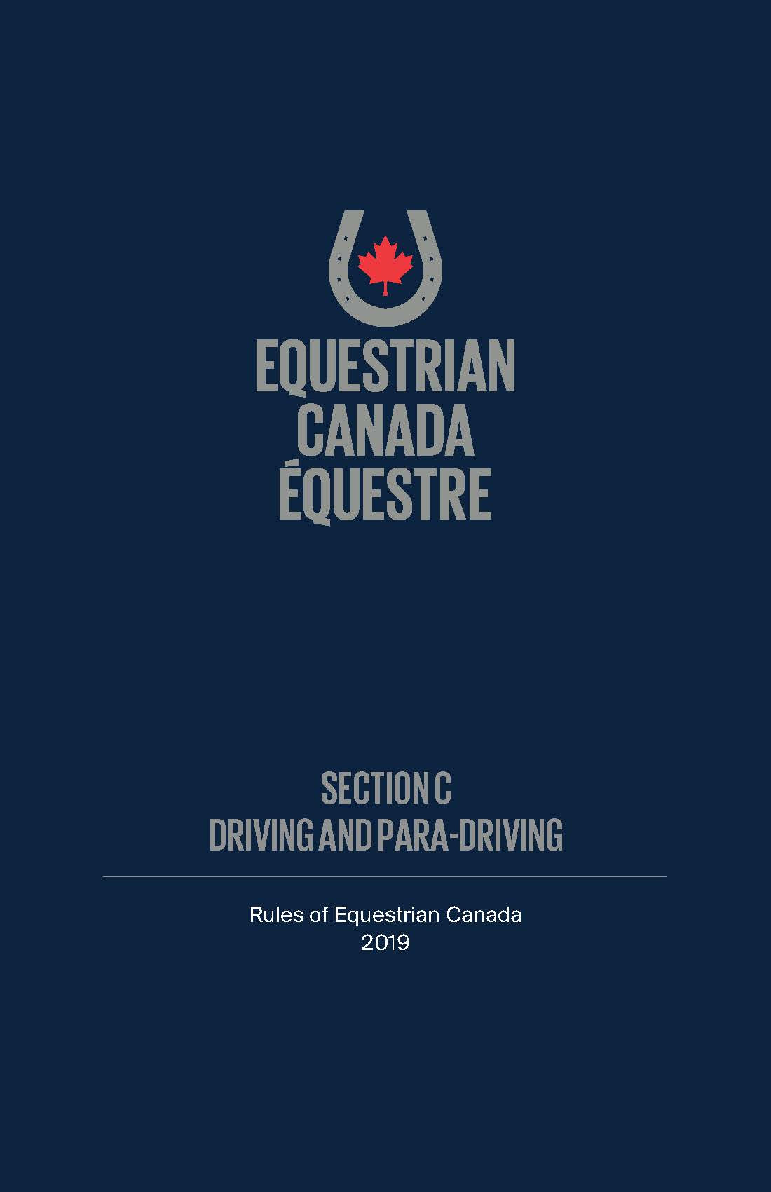 2019 EC Rule Book - Section C - Driving and Para-Driving