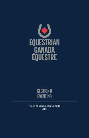 2019 EC Rule Book - Section D - Eventing
