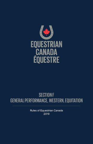 2019 EC Rule Book - Section F - General Performance & Western Equitation