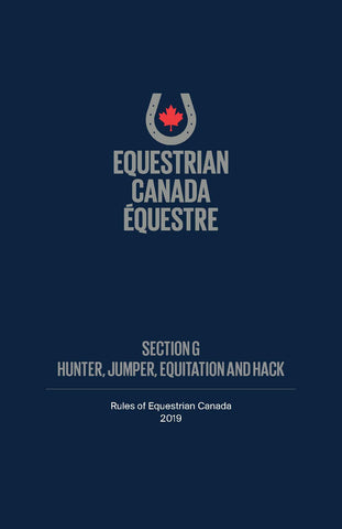 2019 EC Rule Book - Section G - Hunter, Jumper, Equitation & Hack