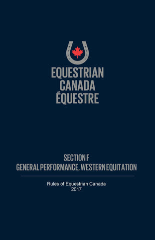EC Rule book - Section F - General Performance & Western Equitation