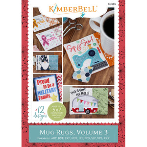 Kimberbell Mug Rugs, Volume 3 Machine Embroidery CD