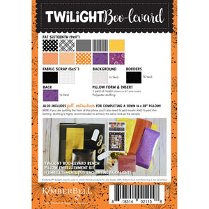 Twilight Boo-Levard Bench Pillow Fabric Kit