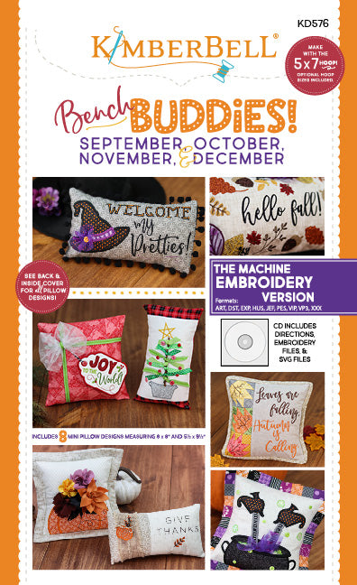 Kimberbell Bench Buddies {September, October, November, & December} Machine Embroidery Version CD