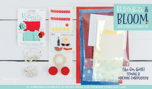 Red, White, & Bloom Quilt - Embellishment Kit - by Kimberbell